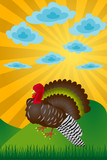 Turkey. Day of thanksgiving. The vector image. poster