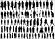 collection of people in silhouette in different poses