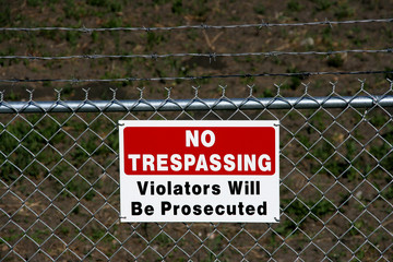 No trespassing - private property