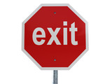 exit red poster