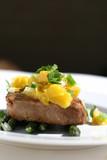 Fish Dinner - Tuna Steak with Mango Salsa poster