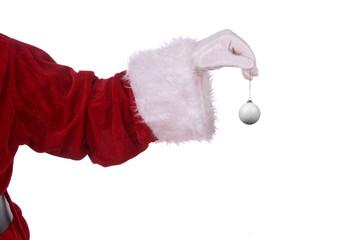 Santa Claus with golf ornament