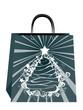 Christmas Design on Paper Bag