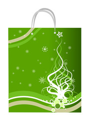 Christmas Design on Paper Bag