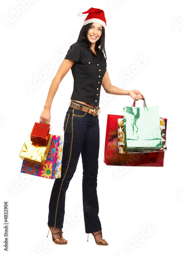 Shopping Christmas woman