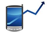 Augmentation des ventes de pocket PC poster