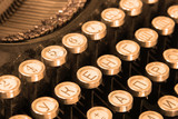 Keyboard of vintage typewriter sepia