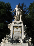 Mozart sculpture in Vienna poster