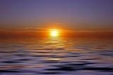 Beautiful sunset at the atlantic ocean in Portugal poster