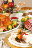 Thanksgiving place setting poster