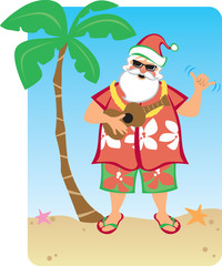 Santa's Hawaiian Christmas