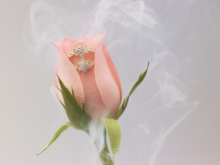 diamond ring with rose