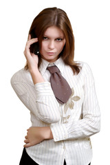 business woman, on white