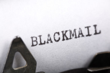 Concept of Blackmail