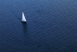 Lonely yacht. The top view - 4845582