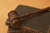 legal books and gavel poster