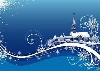 Abstract Blue Xmas Bckg - christmas background