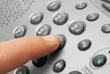 Finger and phone keypad poster