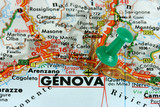 Genova thumbtack on map