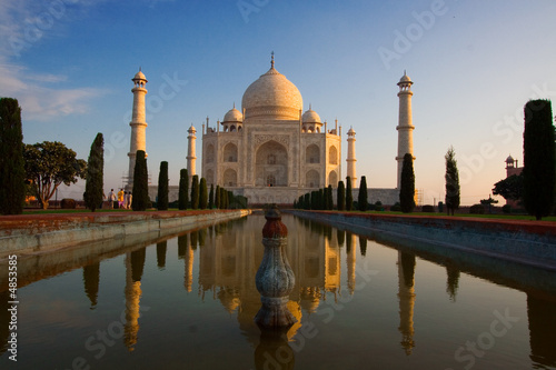 Fotobehang India Taj Mahal sunrise