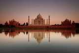 Taj Mahal reflected in river