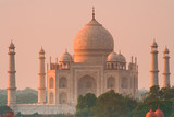 Taj Mahal sunset glow