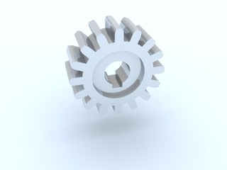 Gear from silver