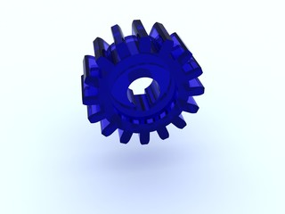 Gear from color glass