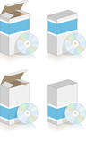 Boite et cd vectoriels, facilement modifiable ! poster