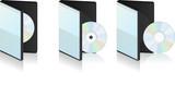 Boitier CD et DVD vectoriel, facilement modifiable ! poster