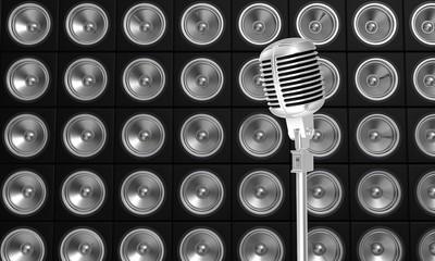 Microphone et baffles