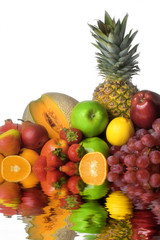 colorful fruits with effect