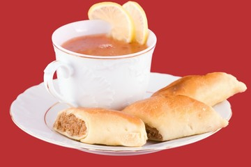 ukrainian borsch and piroshki