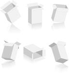 Boites de cartons vectorielles, facilement modifiables ! poster