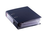Black file binder as isolated object on white background poster