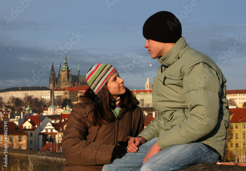 Loving Couple in Prague