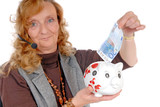 Businesswoman with savings