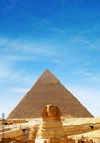 Leinwanddruck Bild sphinx front - egypt