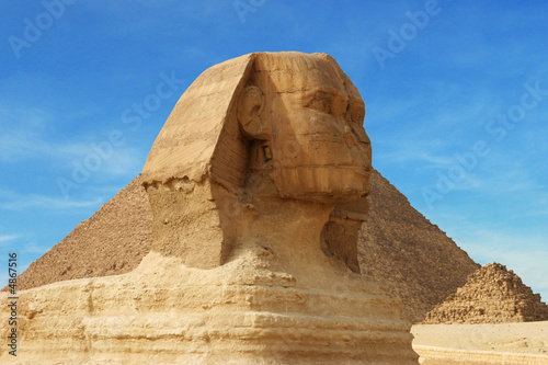 Leinwandbild Motiv head of sphinx - egypt