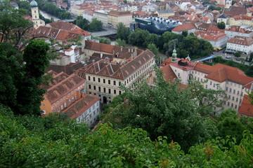 Grazer Innenstadt mit dem Grazer Kunsthaus