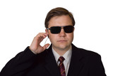 Bodyguard in sunglasses poster