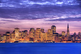 San Francisco at dusk HDR poster