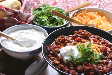 Chili & toppings