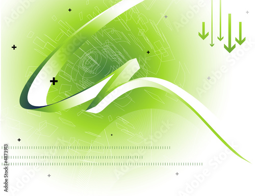 vector hi-tech abstract background design series