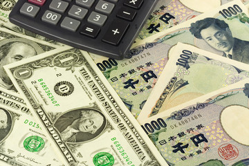 US and Japanese currency pair