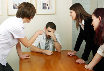 Arguing in the office
