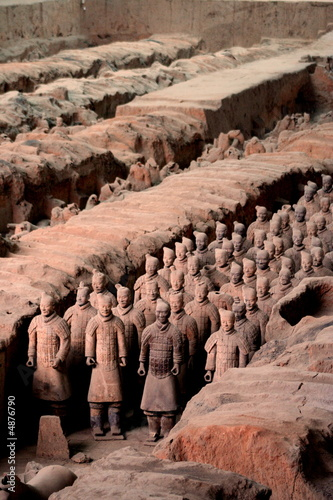Fotobehang Xian Armée de terre cuite 3