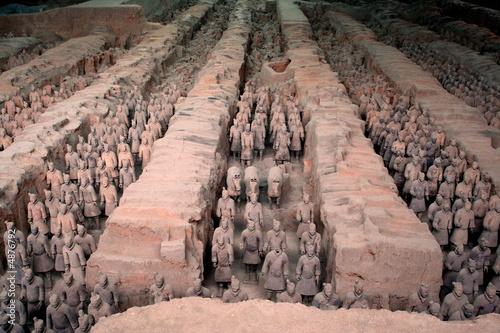 Fotobehang Xian Armée de terre cuite 2