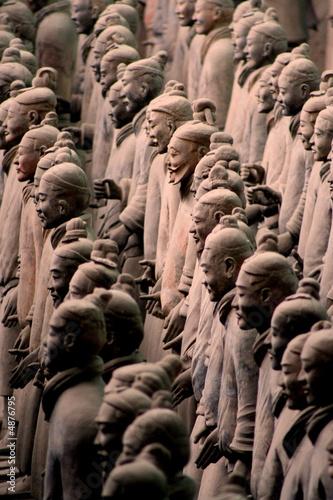 Deurstickers Xian Armée de terre cuite