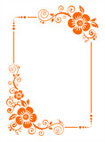 Orange flower border